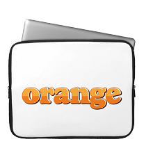 Laptop Sleeve orange