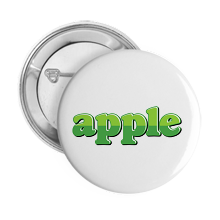 Pinback Buttons apple