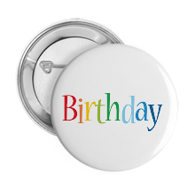 Pinback Buttons birthday